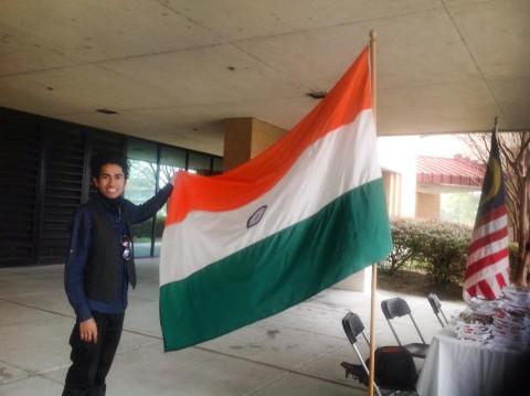 Anirudha and India flag