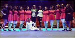 """The Theta Zeta Chapter of Alpha Kappa Alpha Sorority, Inc. competed in the Battle of Olympus step show on March 20. The group placed first overall in its division. The competition took place in Fant Ewing Coliseum."" Left to right:  Bria Lewis, April Scott, Jo' Hilliard, Courtney Mitchell, Chelsea Wyatt, Kedra Holts (in front), Graduate Advisor Shana Alexander, Basileus Ferlencia Staten, Tamara Burns, Joi Anderson, Shelby Davis, D'Jante Curry, Chartesse Johnson"