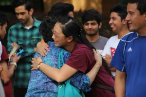 Students and faculty members came out to support The Nepalese Student Association rally for their country.