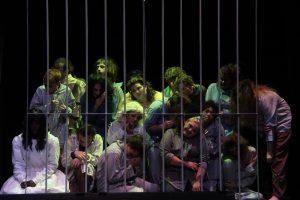 Cast members locked in the insane asylum
